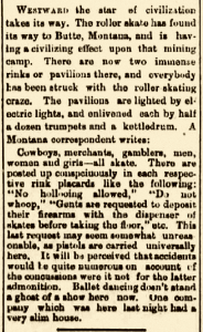 Roller Skating - Omaha Daily Bee – March 10, 1884